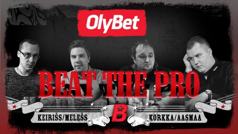 OlyBet Beat the Pro turniiril nüüd 200 eurot lisaväärtust