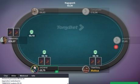 Kas tõesti? TonyBeti pokkeritoas üheaegselt 7709 mängijat!