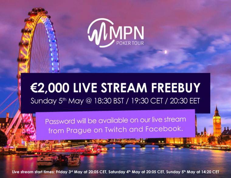 Jälgi MPNPT Praha turniiri telelaua vahendusel ja saa parool 2000€ freerollile