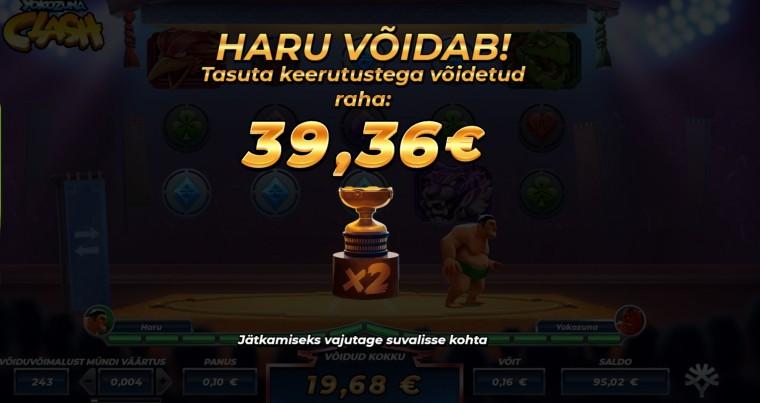 Võida võimas telekas ning saa iga päev 10 tasuta Yokozuna Clash spinni!