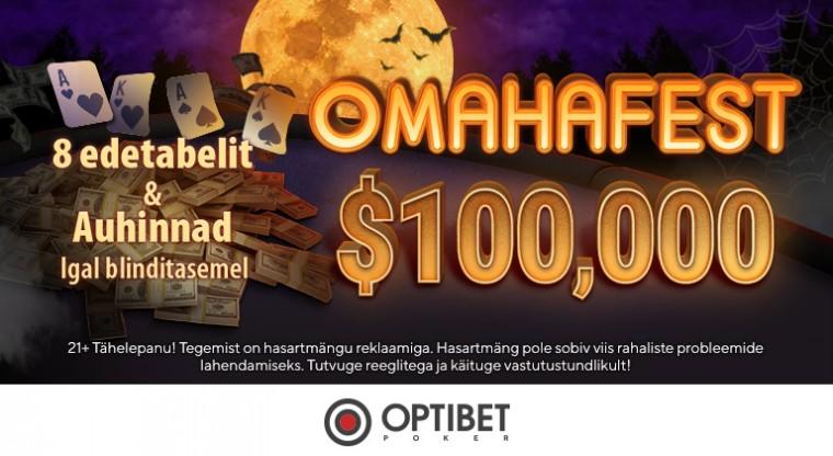Oktoobri Omaha: GG võrgustik jagab ära üle 100 tuhande dollari ekstrat!