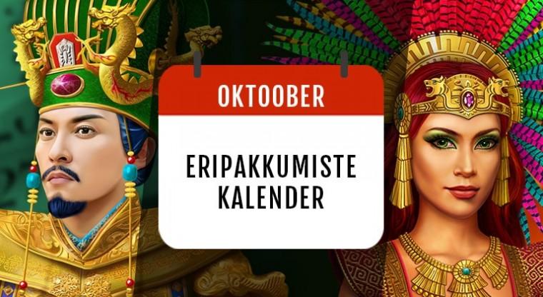 GrandX oktoobri kalendris: tasuta spinnid, reload-boonused ja cashback