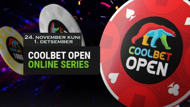 Algas Coolbet Open online-seeria: 17 turniiri, head lisaauhinnad!