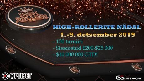 GG võrgustikus algas high-rollerite nädal: 10 miljonit dollarit garanteeritud
