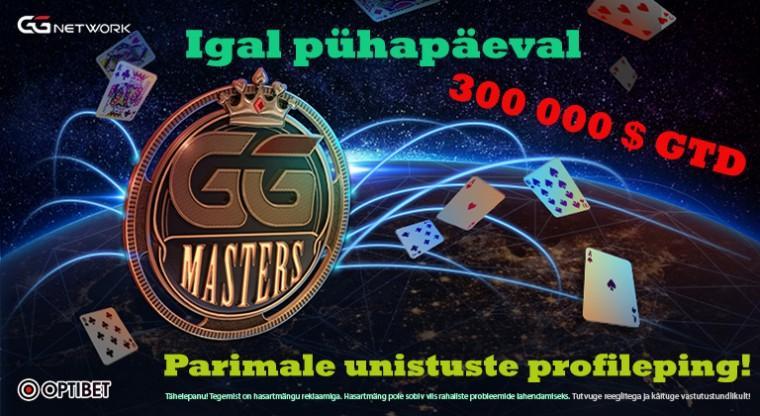 Kas jälle overlay? Pühapäeval kell 18:00 algab iganädalane GG Masters $300K GTD