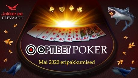 Optibeti pokkeritoa eripakkumised 2020. aasta mais
