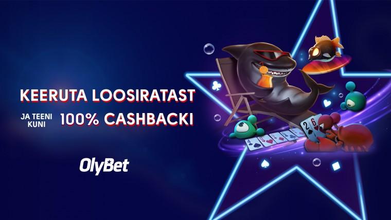 Fish Buffet uueneb: OlyBetis kuni 60% KINDLAT või loosiga kuni 100% cashbacki!