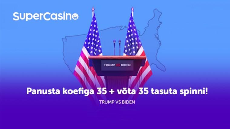 Panusta SuperCasinos USA presidendivalimistele hiiglasliku koefiga!