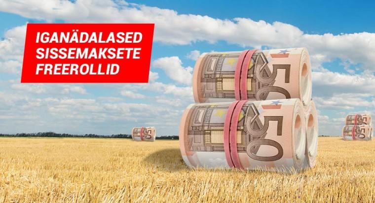 Iganädalane eksklusiivne 1000-eurone deponeerijate freeroll Triobetis