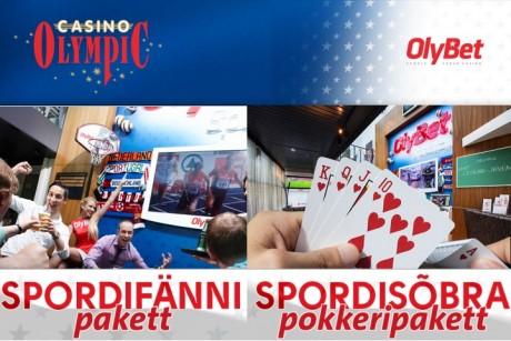 """Olympic Casino """"Spordifännide pakett"""" muudab mängu jälgimise veelgi põnevamaks"""