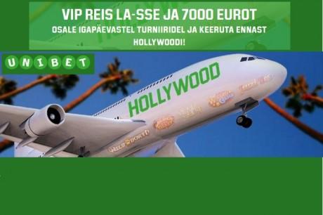 Unibeti slotiturniiril auhinnaks VIP reis Los Angelesse ja €7000 sularaha