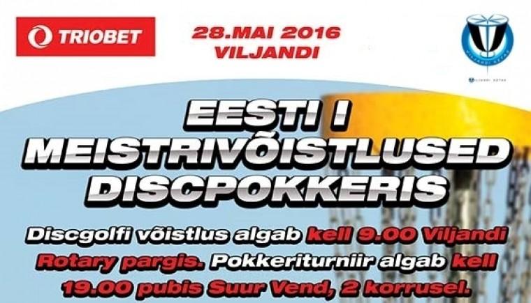 28. mail toimuvad Viljandis esimesed Eesti meistrivõistlused discpokkeris