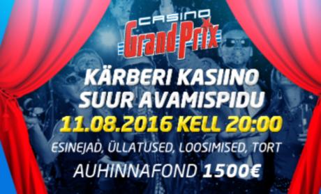 August Grand Prix kasiinodes: uus mängusaal, pokkeriturniirid ja suur loosimine