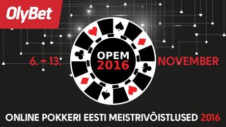 OlyBet garanteerib OPEM turniiride auhinnafondiks 12 500 eurot