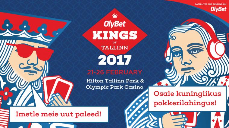 Regiooni suurim pokkerifestival OlyBet Kings of Tallinn toimub 21.-26.02.2017