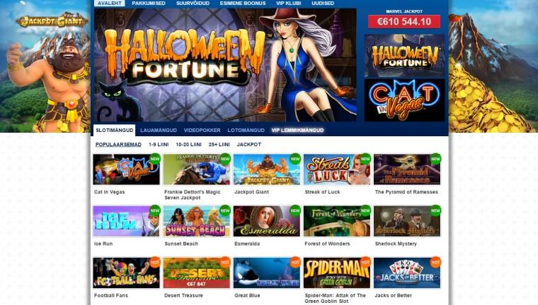 Mängige online kasiino mänge Eestis