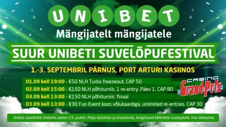 Unibet ning Casino Grand Prix korraldavad Pärnus suure suvelõpufestivali!