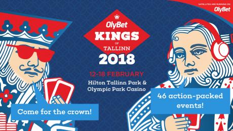 Regiooni suurim pokkerifestival OlyBet Kings of Tallinn toimub 12.-18.02.2018