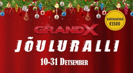 Algas GrandX Jõuluralli - auhinnafond 1500 eurot