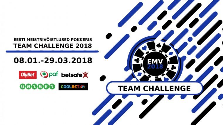 8. jaanuaril algab uus võistkondlik turniirisari EMV Team Challenge 2018