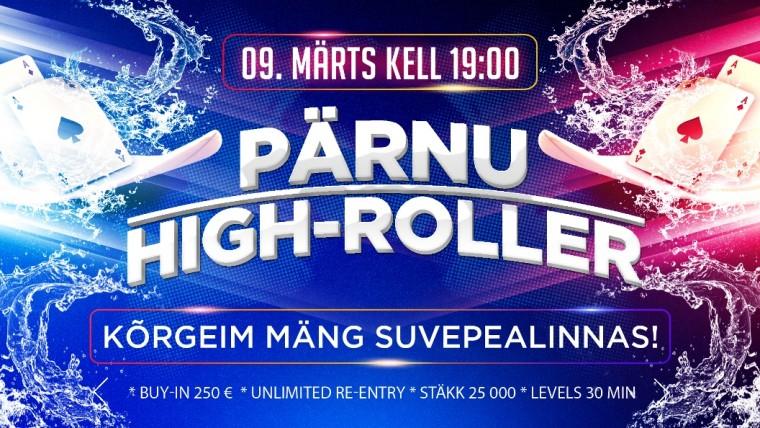 9. märtsil toimub Pärnus menukas High-Roller