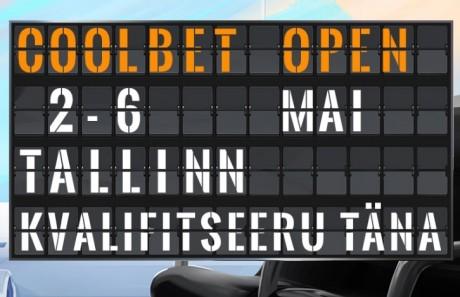 Coolbet Openile on läbi interneti kvalifitseerunud juba 20 mängijat