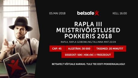 5. mail selgub 2018. aasta Rapla pokkerimeister