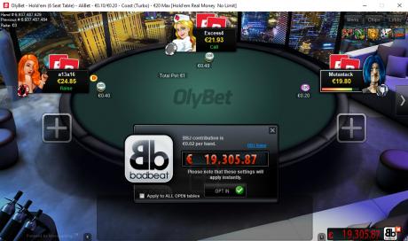 OlyBeti mängija teenis emandate nelikuga kaotades Bad Beat Jackpoti 16 347 eurot