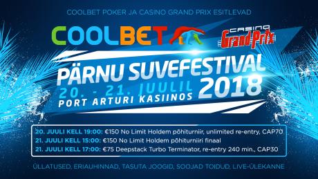 Coolbet ning Casino Grand Prix korraldavad juulis Pärnu suvefestivali