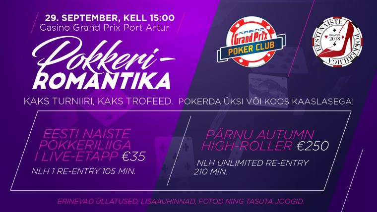 Juba sel laupäeval Port Arturi kasiinos: Pärnu Pokkeriromantika 2018!