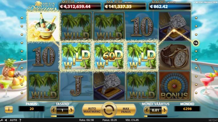 Kas kukub varsti? Mega Fortune Dreams Jackpot on kasvanud üle 4,6 miljoni!