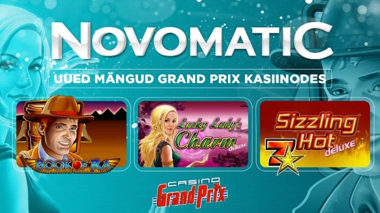 Grand Prix kasiinodesse jõudsid Novomaticu mänguautomaadid