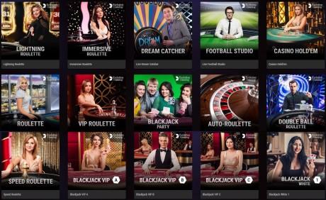 Coolbeti live-kasiinos nüüd üle 70 erineva mängu!