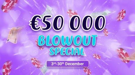 OlyBeti pokkeritoas jagamisel 27 tasuta pääset aastalõpu €50K Blowout turniirile