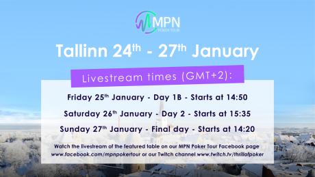 Jälgi MPNPT Tallinn turniiri telelaua vahendusel ja saa parool €2K freerollile