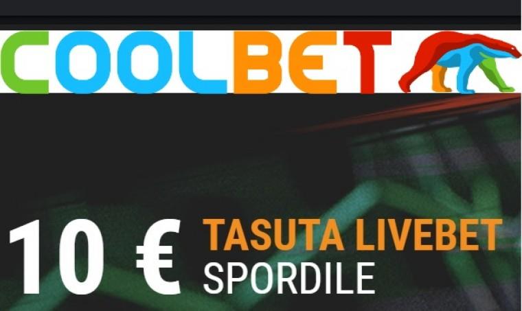 Saa nädalavahetuseks 10-eurone tasuta live-panus Coolbetis