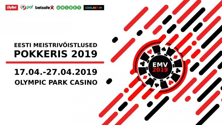 2019. aasta Eesti pokkerimeistrid selguvad 17.-27. aprillil